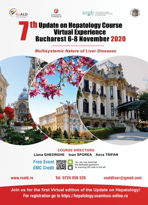 Poza eveniment - 7th UpDate on Hepatology Course Bucharest Romania 2020